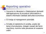reporting operativo