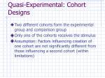 quasi experimental cohort designs