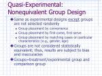 quasi experimental nonequivalent group design