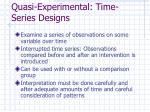 quasi experimental time series designs
