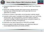 vision of more robust cbo collections model