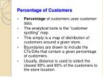 percentage of customers