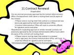11 contract renewal if applicable