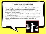 7 fiscal legal review