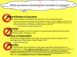 what provisions should not be included in contracts1