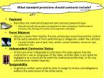 what standard provisions should contracts include1