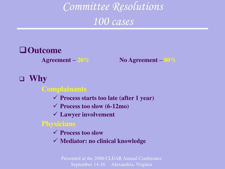Committee Resolutions