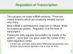 regulation of transcription