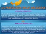 la psicologia delle decisioni