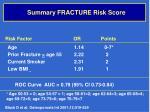 summary fracture risk score