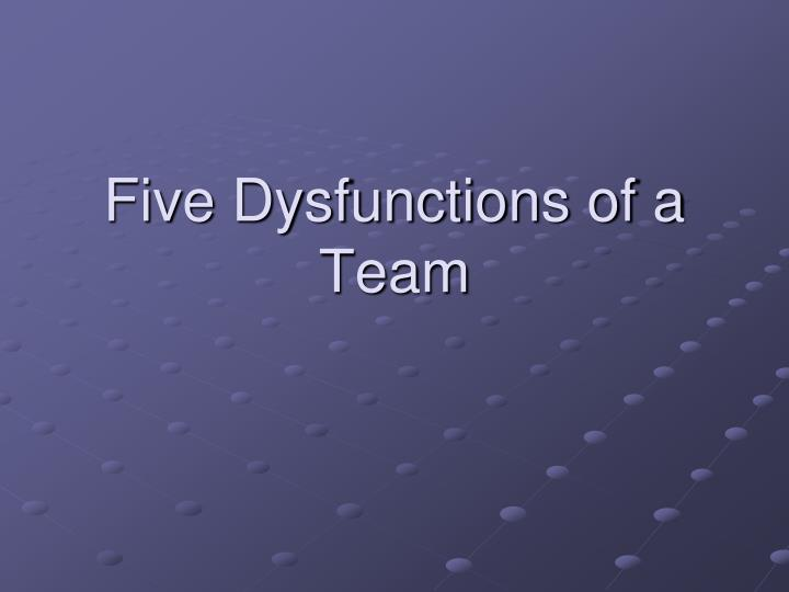 five dysfunctions of a team n.