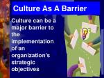 culture as a barrier