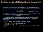 building the goods market model demand side