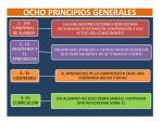 ocho principios generales