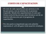 costo de capacitacion