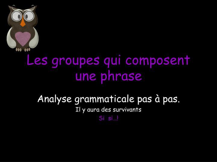 les groupes qui composent une phrase n.