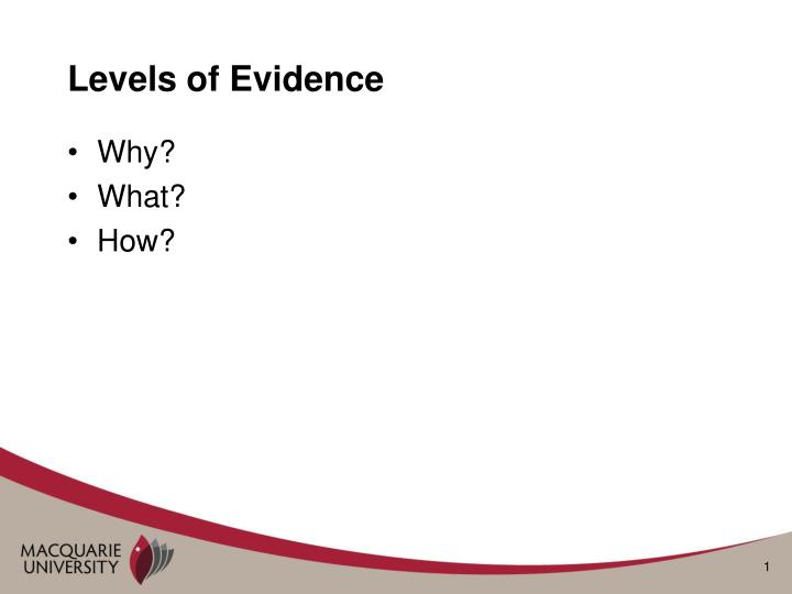levels of evidence n.