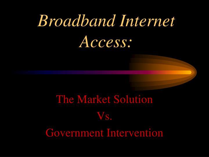 broadband internet access n.