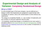 experimental design and analysis of variance completely randomised design