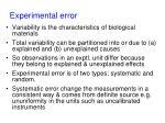 experimental error