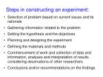 steps in constructing an experiment