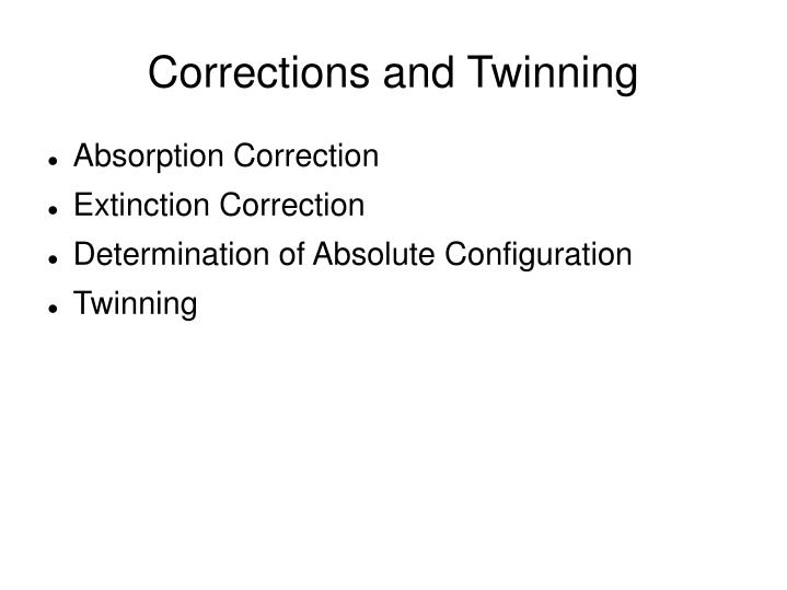 corrections and twinning n.