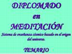 diplomado en meditaci n sistema de ense anza c smico basado en el origen del universo temario