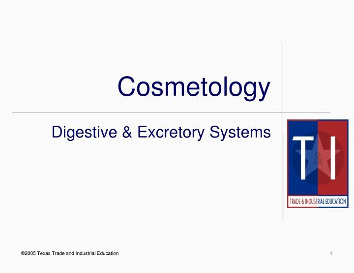 cosmetology n.