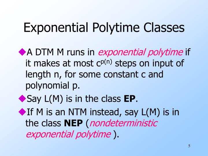 Exponential Polytime Classes