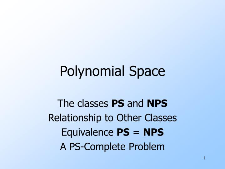 polynomial space n.