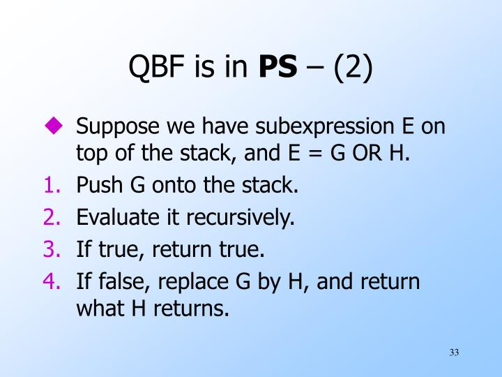 QBF is in