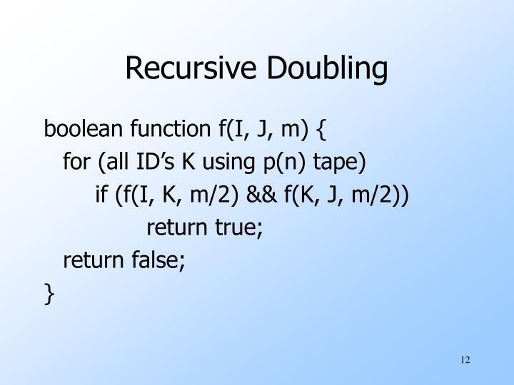 Recursive Doubling