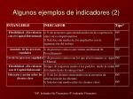 algunos ejemplos de indicadores 2