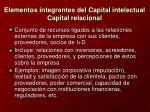 elementos integrantes del capital intelectual capital relacional