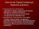 informe de capital intelectual aspectos pr cticos