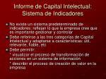 informe de capital intelectual sistema de indicadores