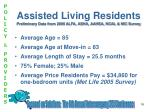 assisted living residents preliminary data from 2006 alfa asha aahsa ncal nic survey