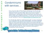 condominiums with services