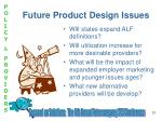 future product design issues