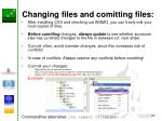 changing files and comitting files