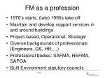 fm as a profession