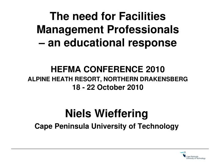 niels wieffering cape peninsula university of technology n.