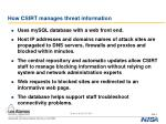 how csirt manages threat information