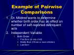 example of pairwise comparisons
