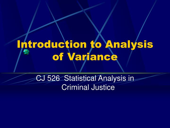 introduction to analysis of variance n.