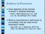 evidence of possession1