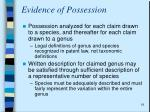 evidence of possession4