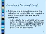 examiner s burden of proof1