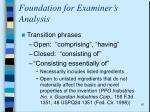 foundation for examiner s analysis1