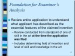 foundation for examiner s analysis2